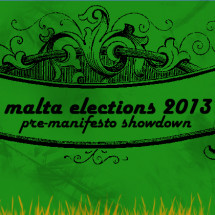 Malta Elections 2013 Pre-manifesto showdown Infographic