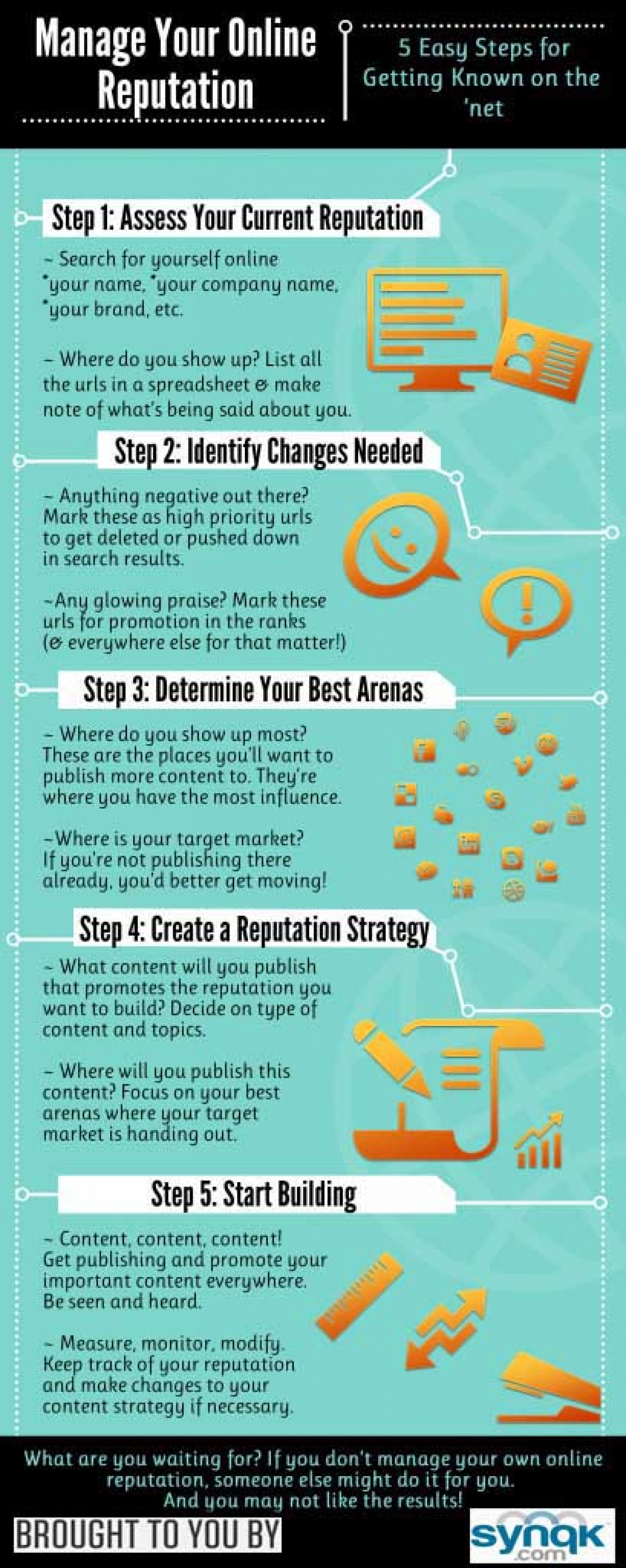 Manage Your Online Reputation Infographic