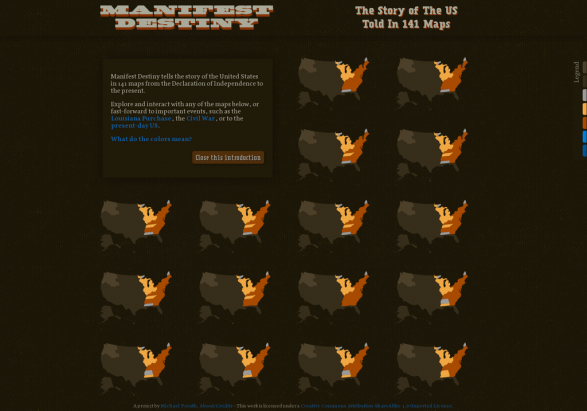 Manifest Destiny - The Story of The US Told in 141 Maps