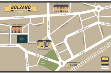 Map - Bolzano Italy Infographic
