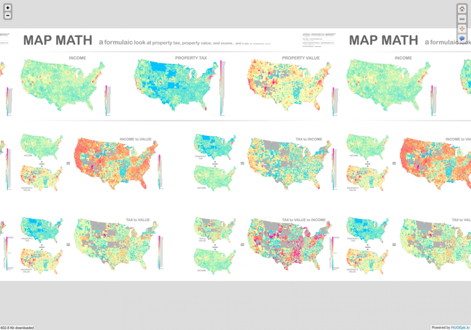 Map Math Infographic