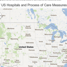 Map of US Hospitals and Process of Care Measures Infographic