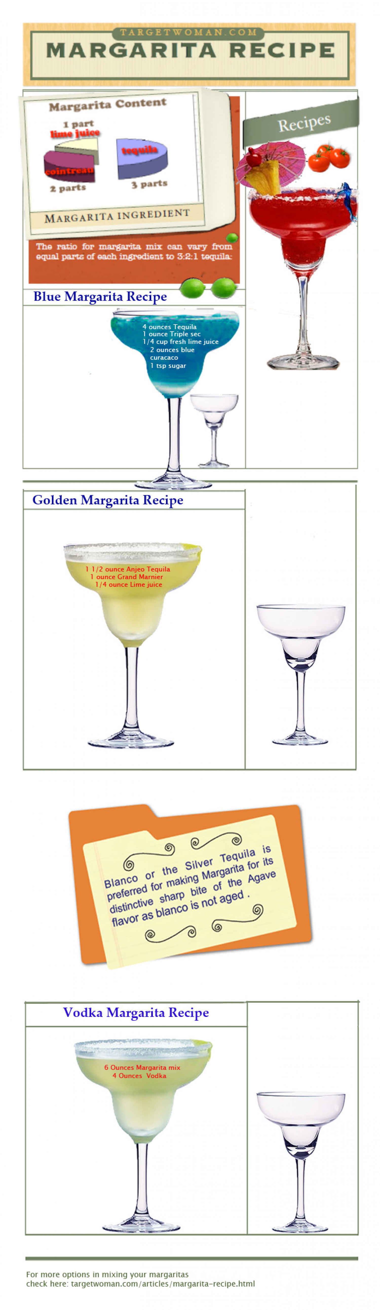 Margarita Recipes Infographic