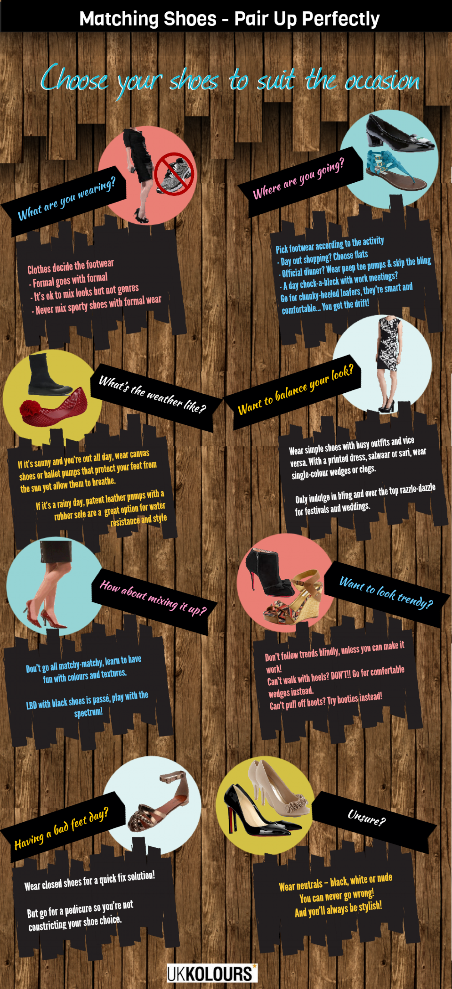 Matching Shoes - Pair Up Perfectly Infographic