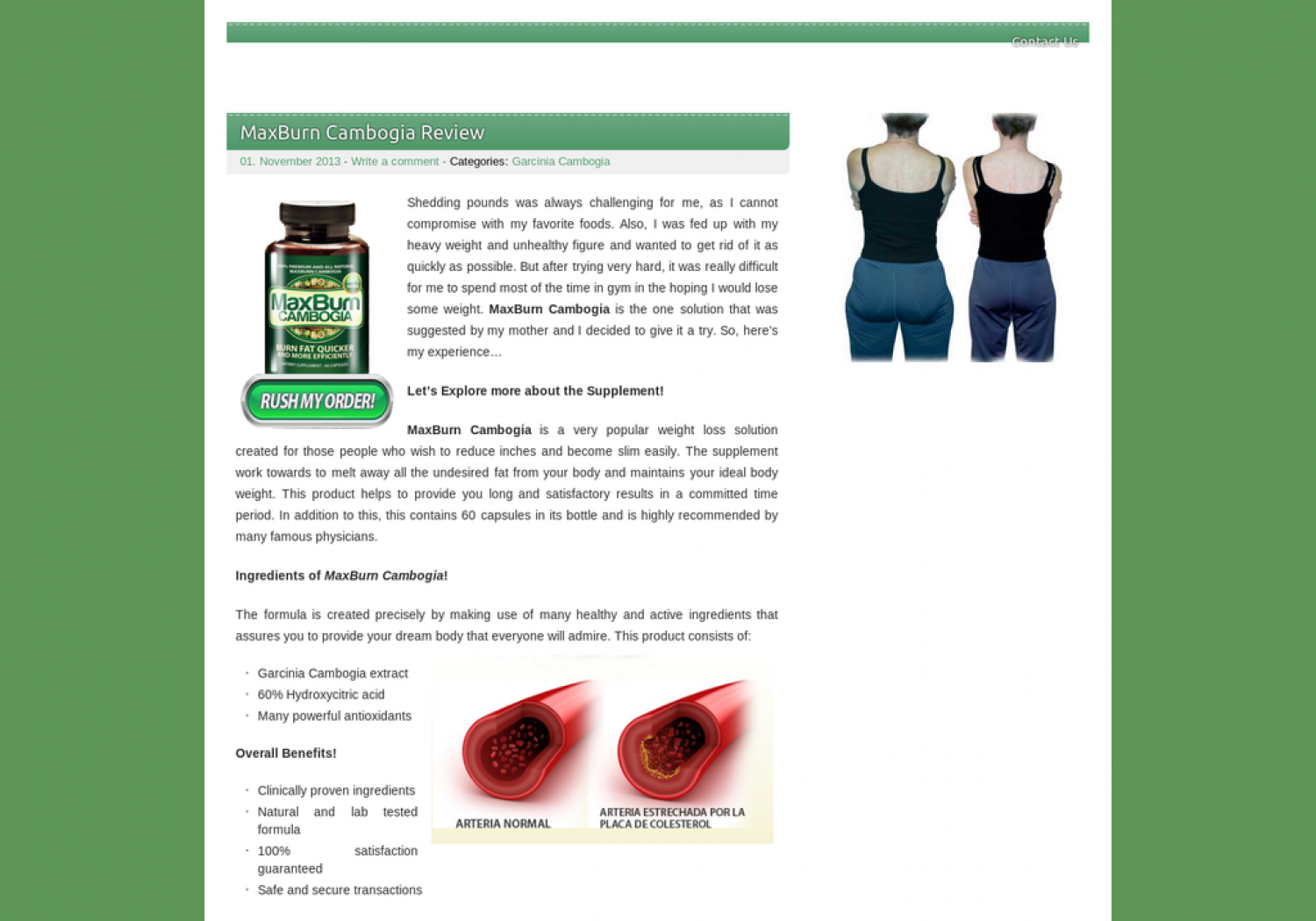 MaxBurn Cambogia - Burn Undesired Body Fat and Look Slim! Infographic