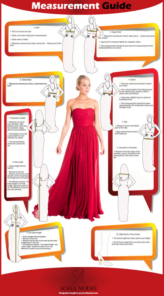Measurement Guide For Formal Dresses