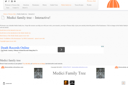 Medici Family tree Infographic
