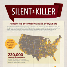 Mesothelioma Education: Asbestos Exposure Infographic Infographic