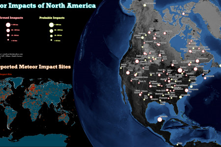 Meteor Impacts of North America Infographic