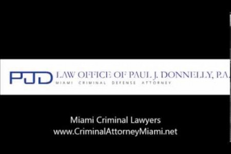 Miami Criminal Defense Lawyers: Law Office of Paul J. Donnelly Infographic