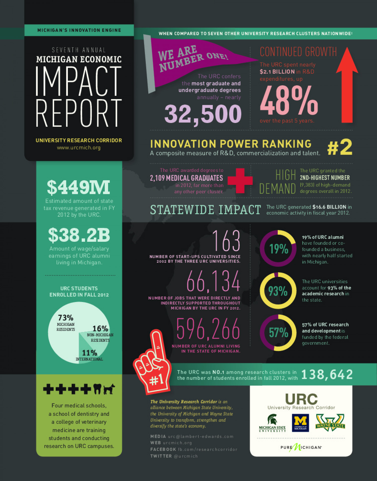 Michigan Economic Impact Report 2013 Infographic
