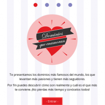 Microsite Dominios que enamoran Infographic