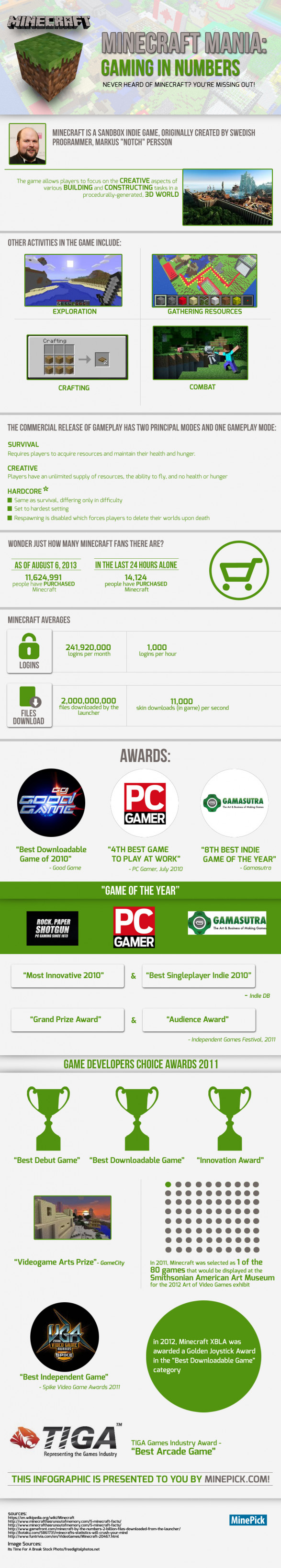 Minecraft Mania: Gaming in Numbers