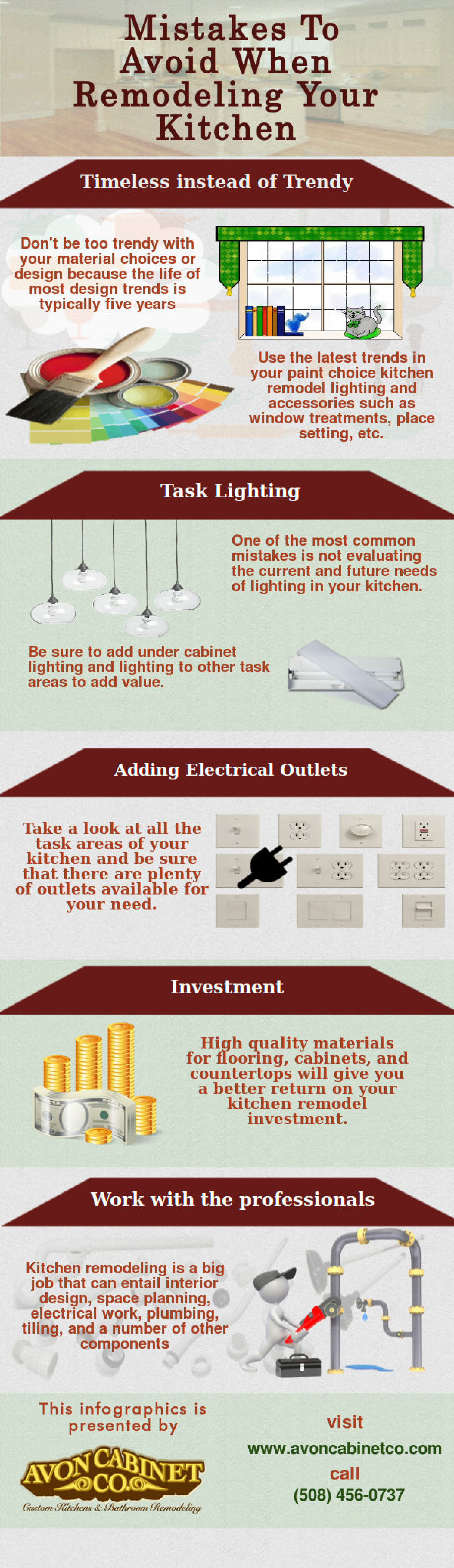 Mistakes to Avoid When Remodeling Your Kitchen Infographic