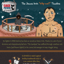 MMA - The James Irvin 'Why Me?' Timeline Infographic