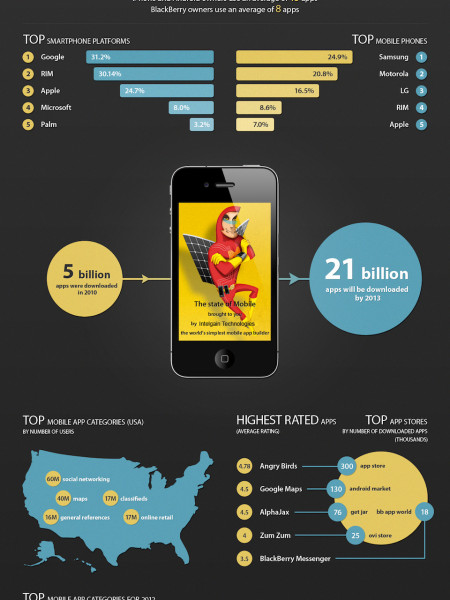 Mobile Application Development Infographic