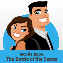 Mobile Apps: The Battle of the Sexes Infographic