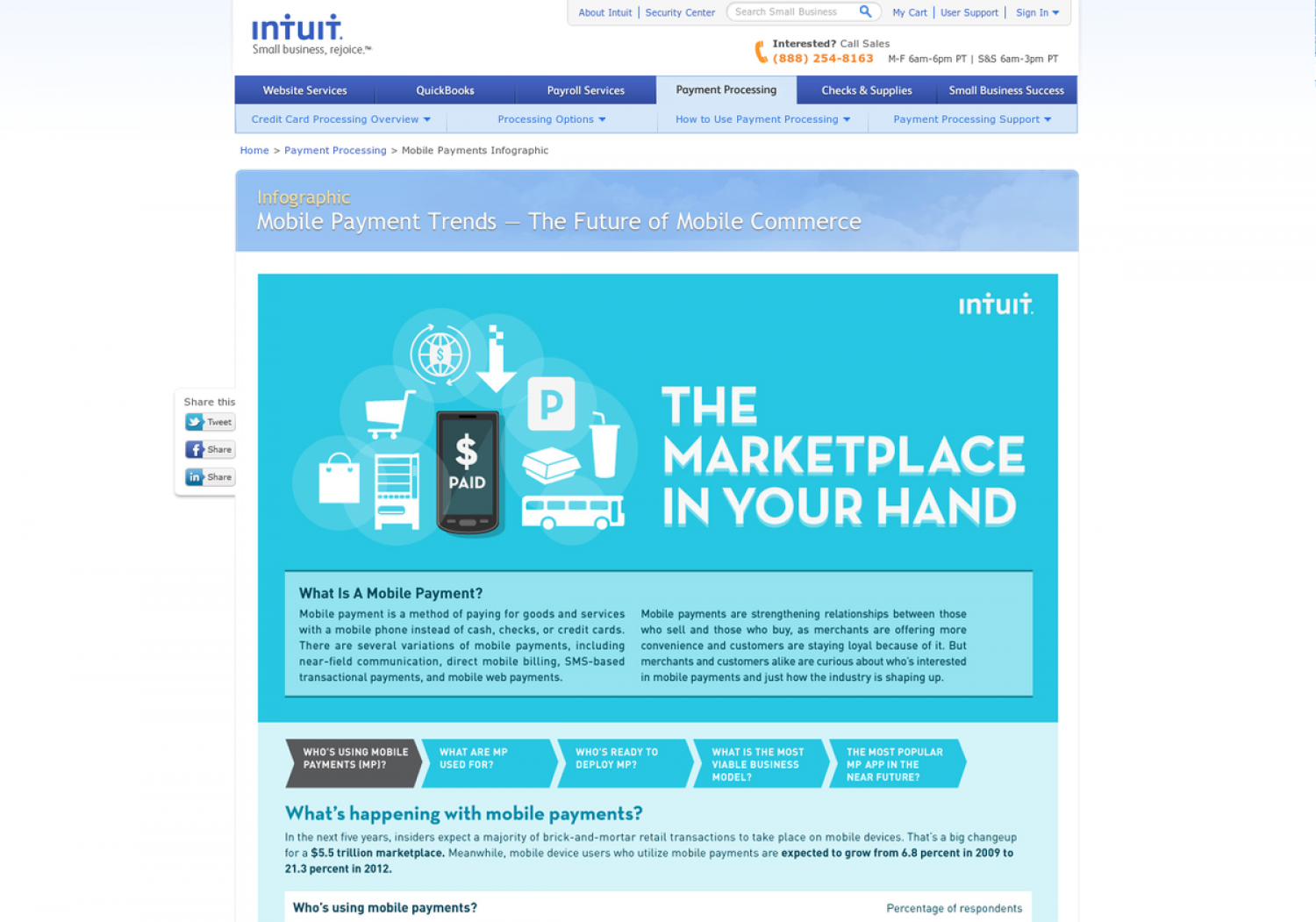 Mobile Payment Trends: The Marketplace in Your Hands Infographic