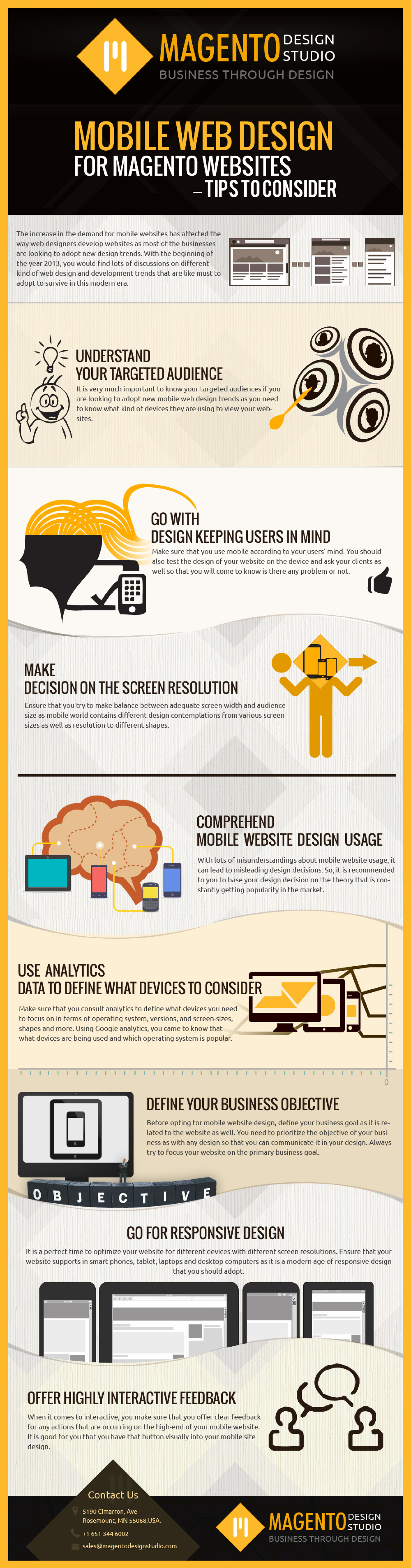 Mobile Web Design For Magento Websites – Tips to Consider Infographic