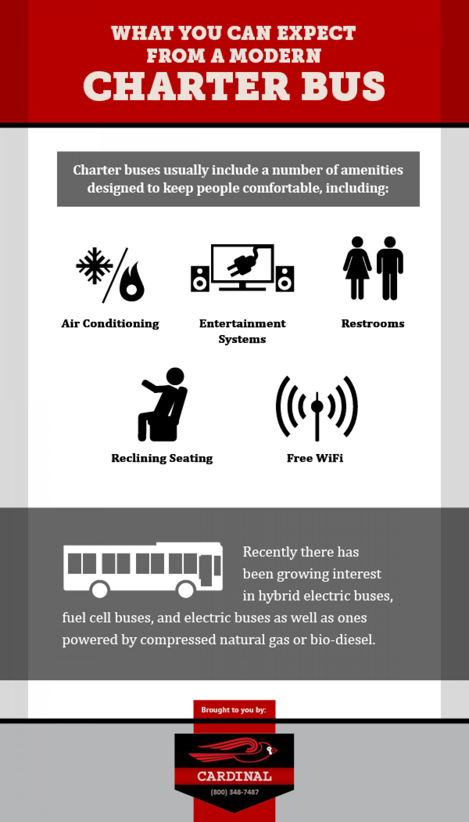 What you can Expect From a Modern Charter Bus Infographic