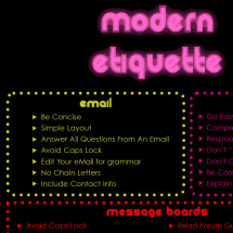 Modern Online Etiquette - Communicating on Social Media  Infographic
