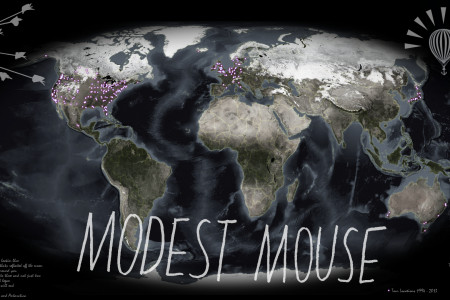 Modest Mouse Tour Locations Infographic