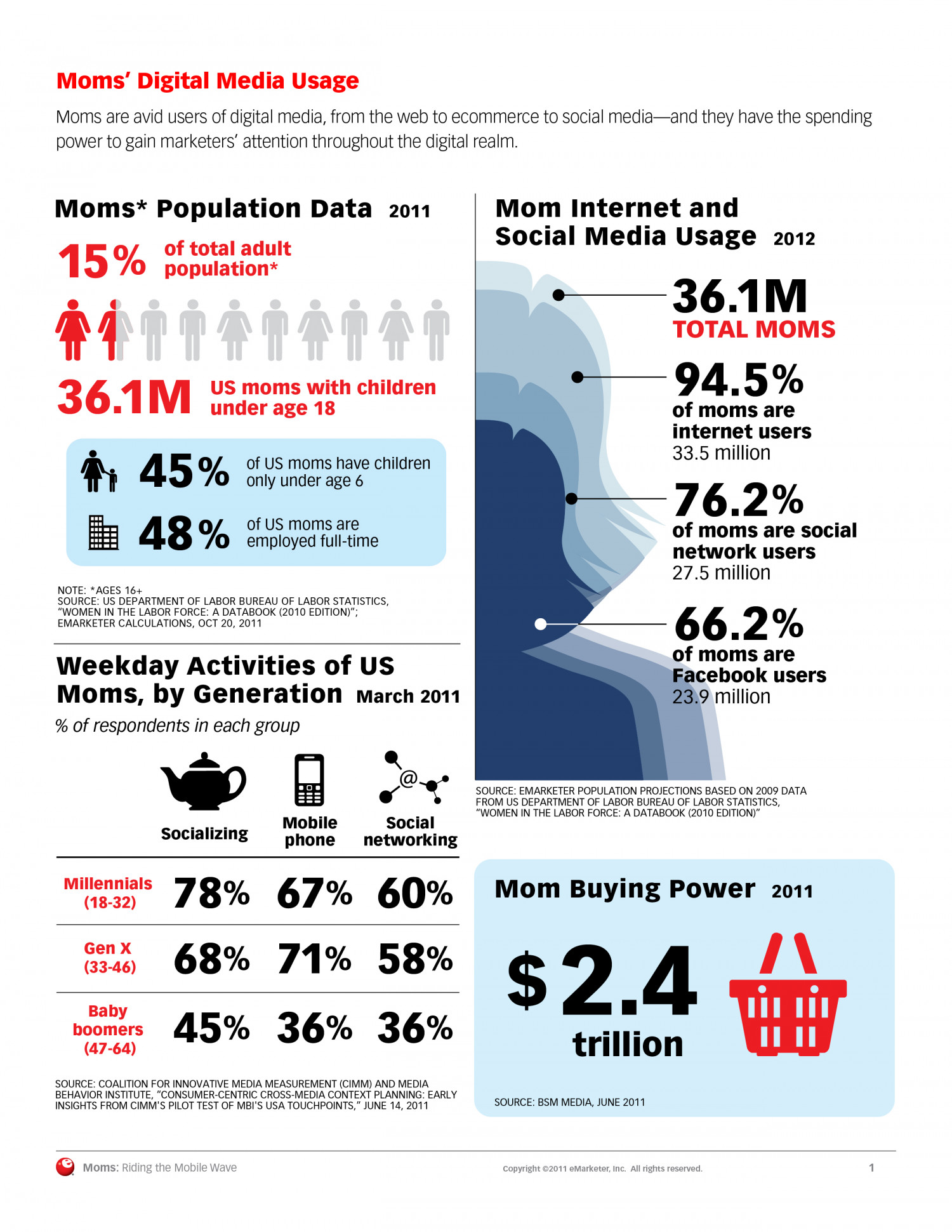 Mom's Digital Media Usage  Infographic