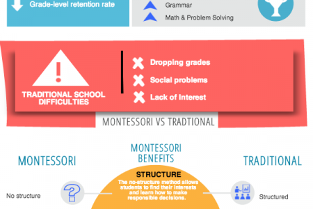 Montessori Schools vs Traditional Schools Infographic