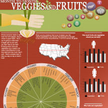 Month to Month Veggies and Fruit Infographic: Your Guide to Seasonal Cooking Infographic