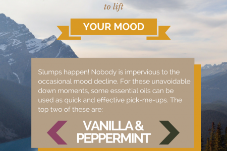 Mood lifting essential oils Infographic