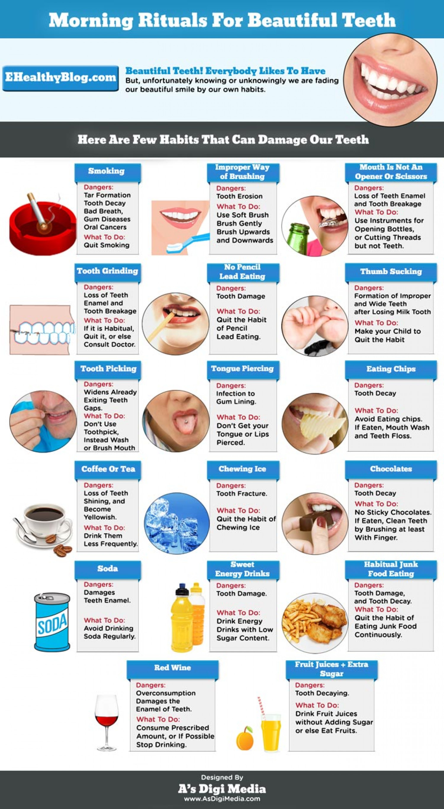 Morning Rituals For Beautiful Teeth Infographic