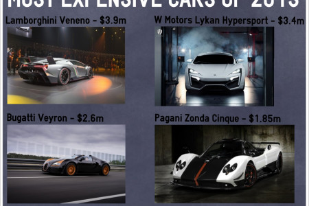 Most Expensive Cars of 2013 Infographic