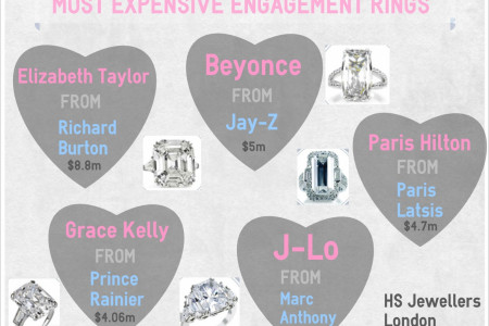 Most Expensive Engagement Rings Infographic