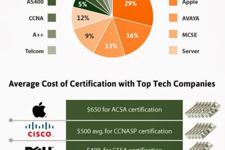 Most In Demand IT Skills and Certifications Infographic