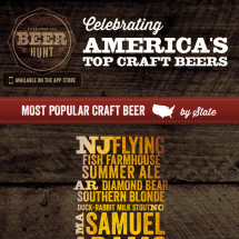 Most Popular Craft Beer by State Infographic