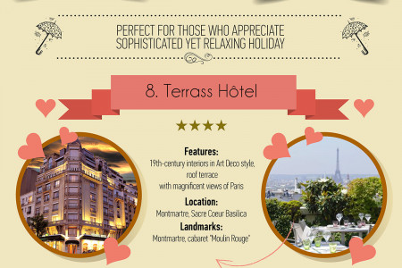 Most Romantic Hotels in Paris Infographic