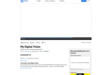 My Digital Vision by Web Reputation Infographic