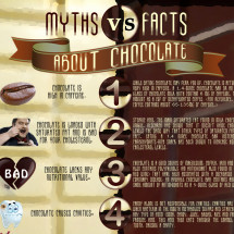 Myths vs Facts about Chocolate Infographic