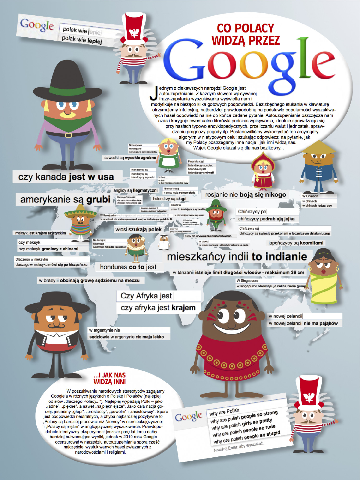 national stereotypes by google instant search visually