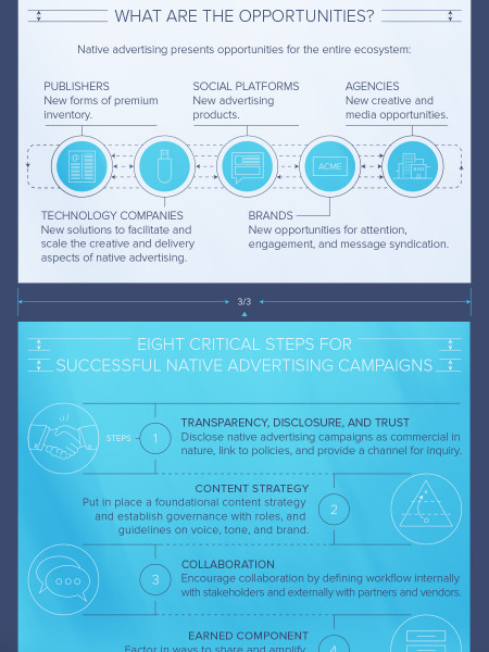 Native Advertising Blueprint: Eight Critical Steps to Success Infographic