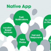 Native Apps vs. Web Apps Infographic