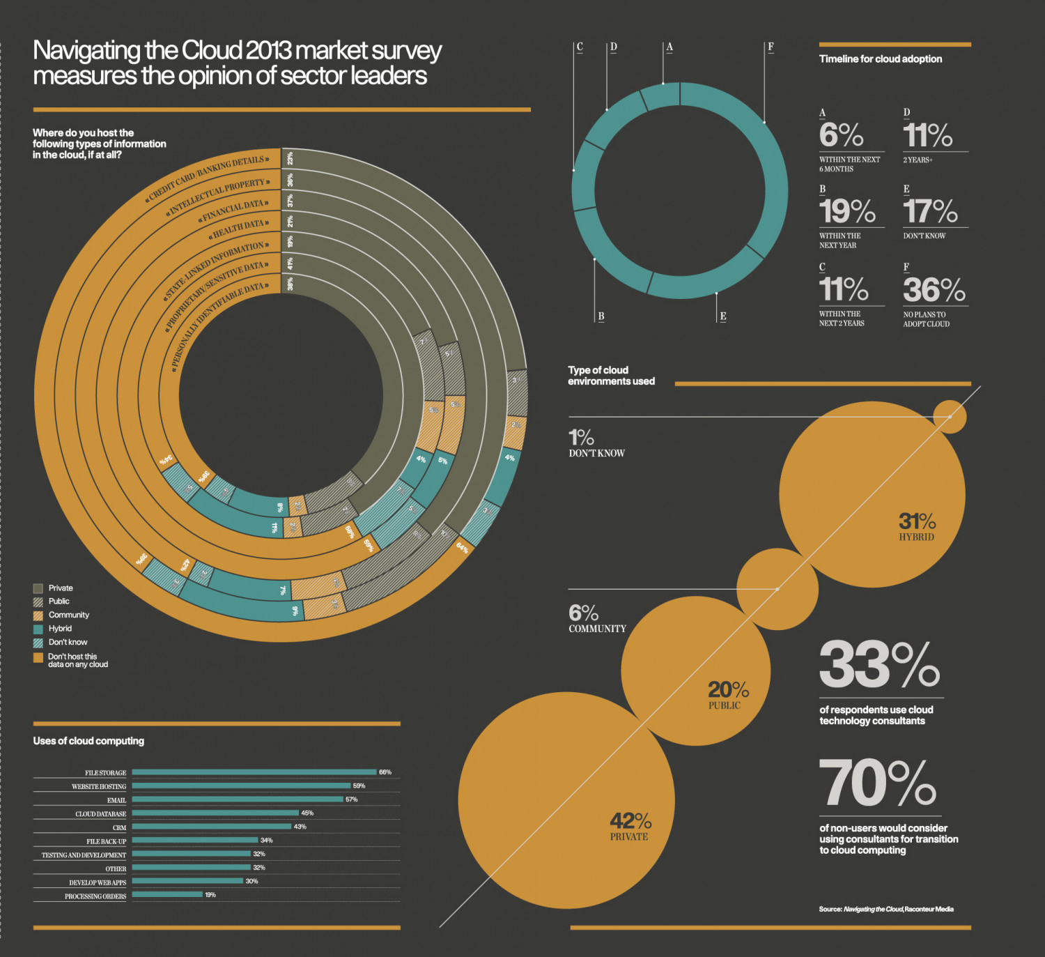 Navigating The Cloud Market Research Infographic