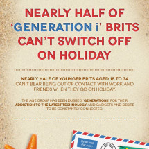 Nearly half of 'Generation i' Brits can't switch off on holiday Infographic