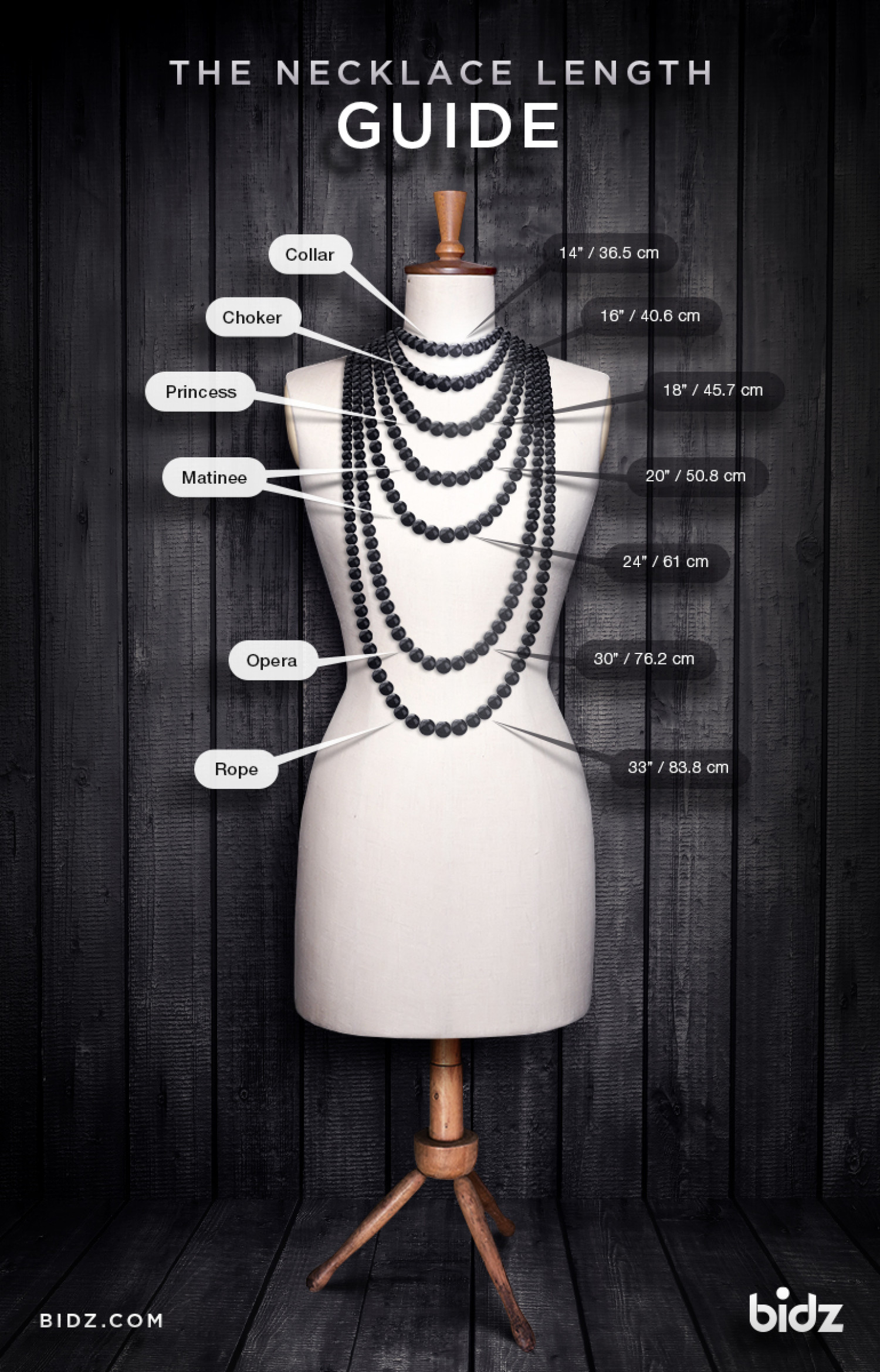 necklace length guide visual ly