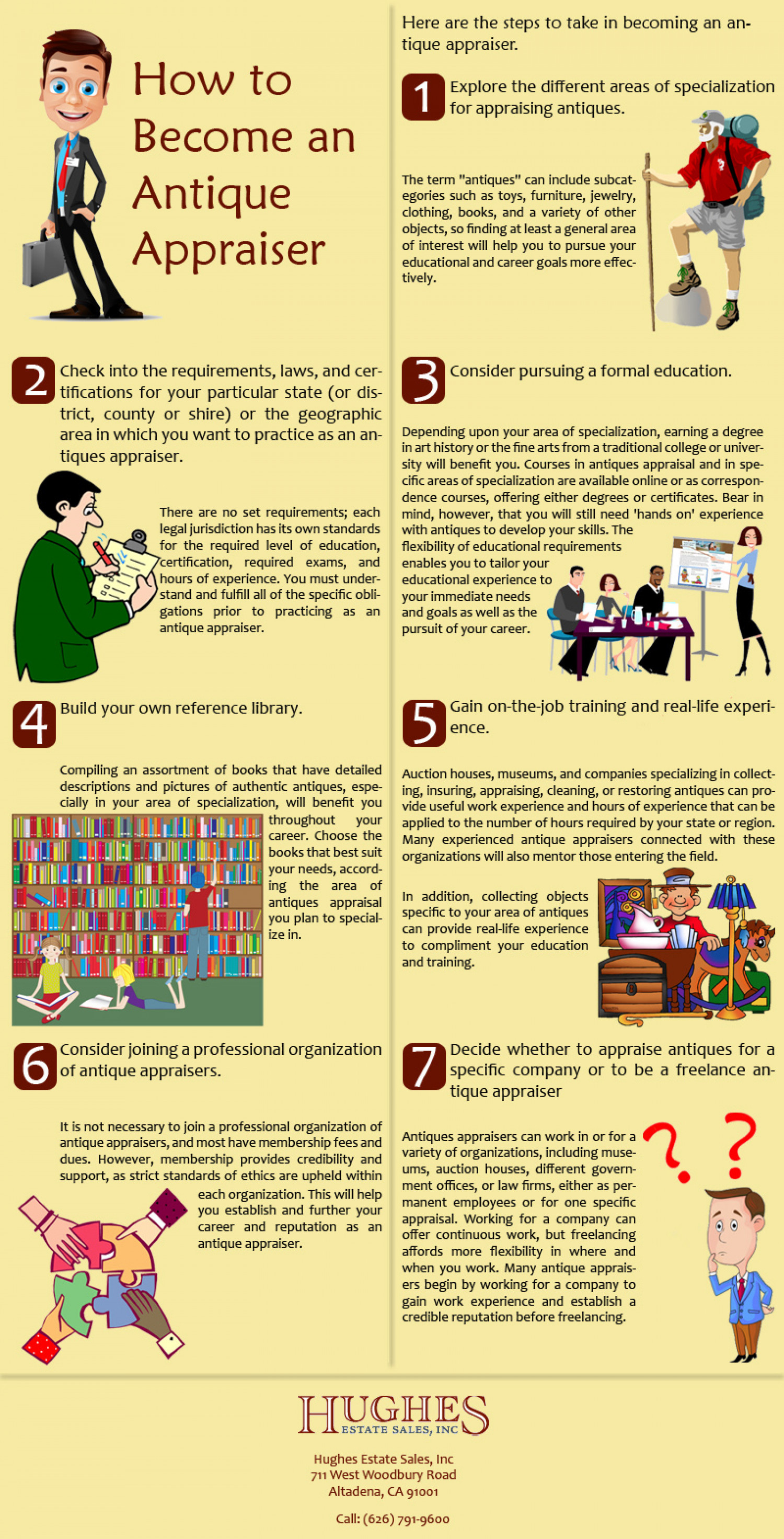 Need Antique Appraisals? Be an Antique Appraiser Infographic