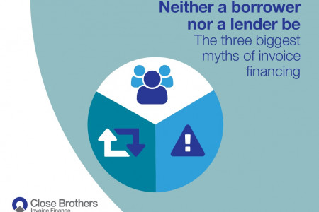 Neither a borrower nor a lender be - the three biggest myths of invoice financing Infographic