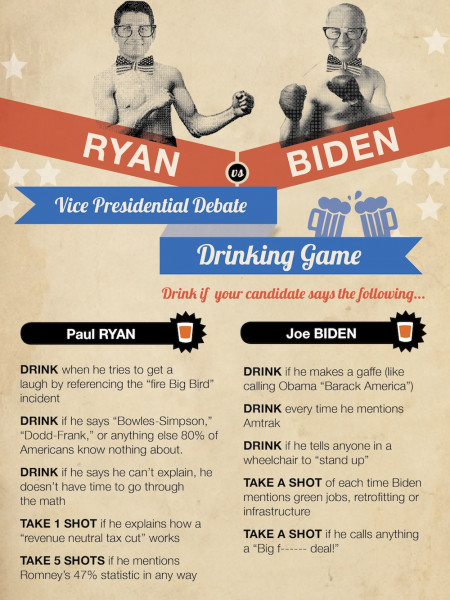 NerdWallet's Vice Presidential Debate Drinking Game Infographic