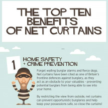 Net Curtain Benefits Infographic