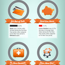 Netmining New Year's Resolutions Infographic Infographic
