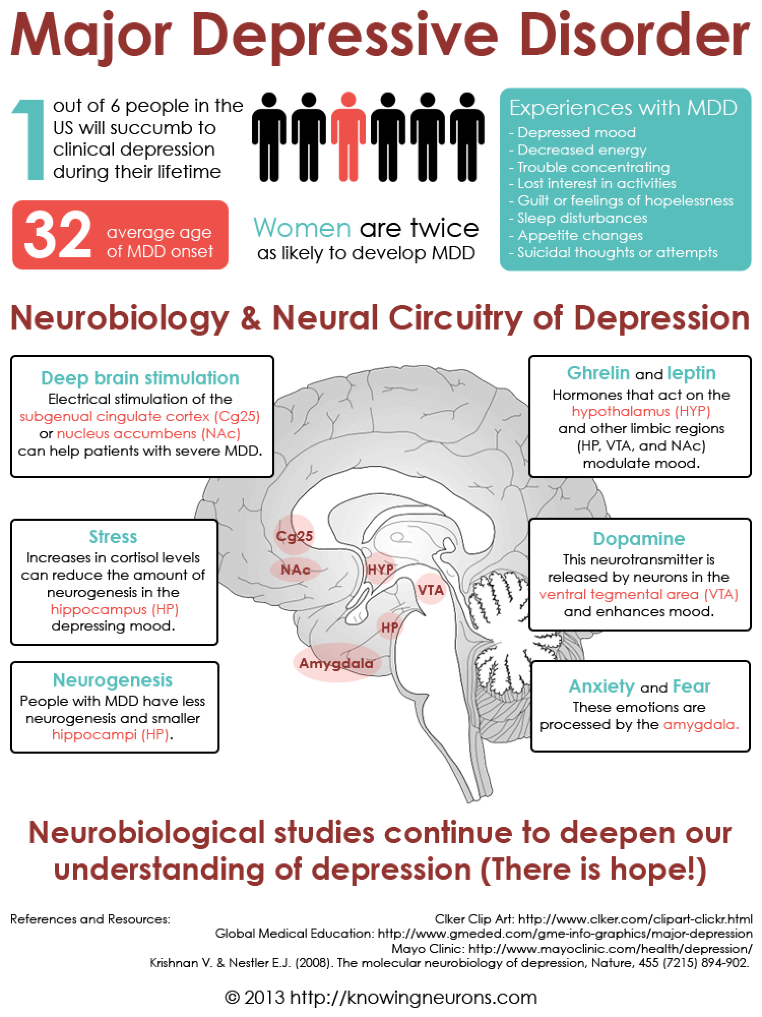Neurobiology and Neural Circuitry of Depression Infographic